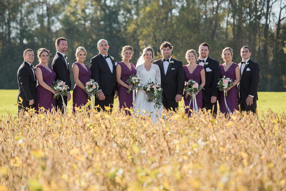 North Carolina tented farm fall wedding