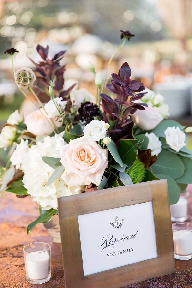 North Carolina fall tobacco farm wedding florals