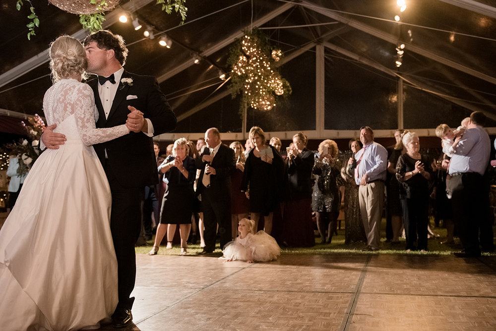North Carolina fall tobacco farm wedding first dance