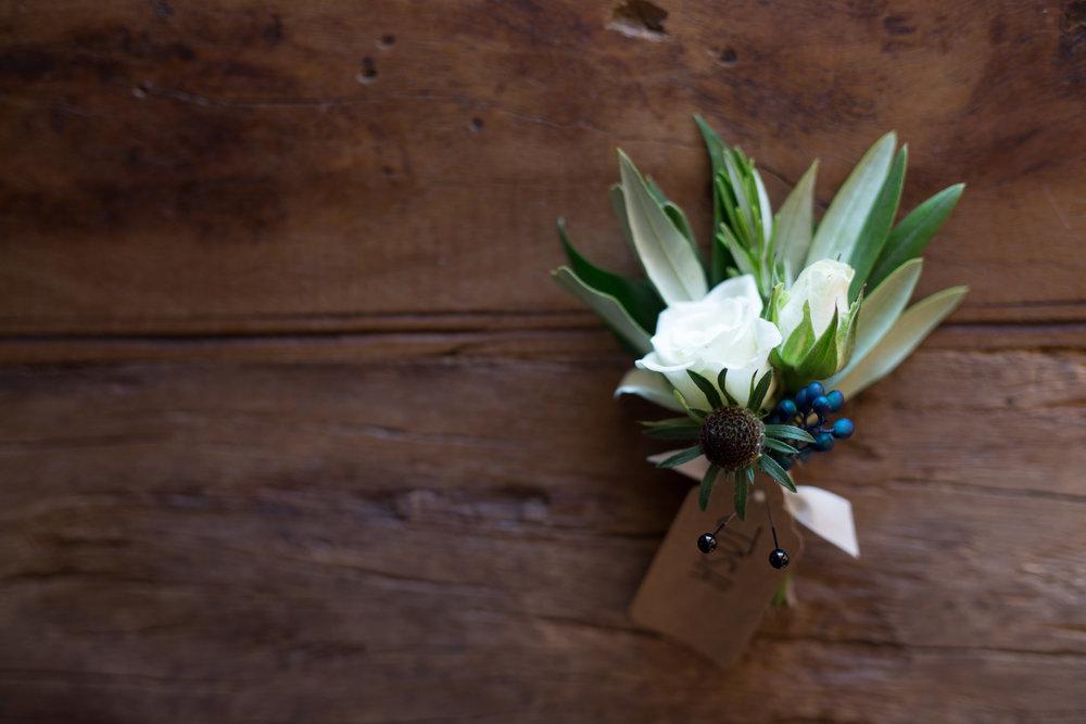 Asheville nc mountain wedding boutonniere