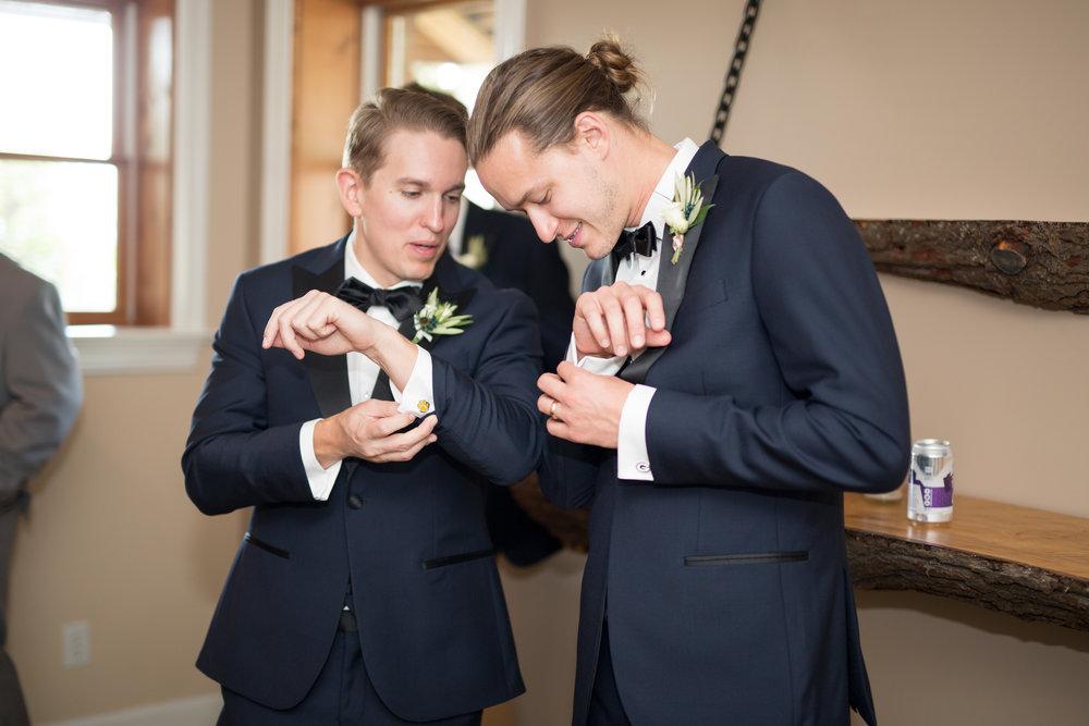 Asheville nc mountain wedding groomsmen