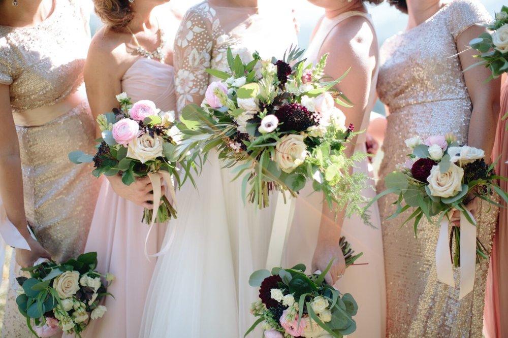 Asheville nc mountain wedding bridesmaids bouquets