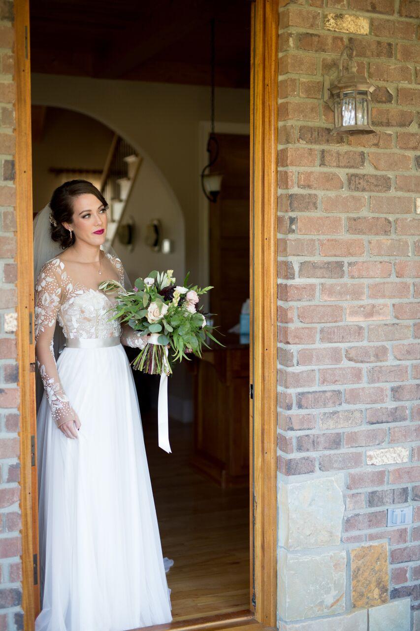 Asheville nc mountain wedding bride