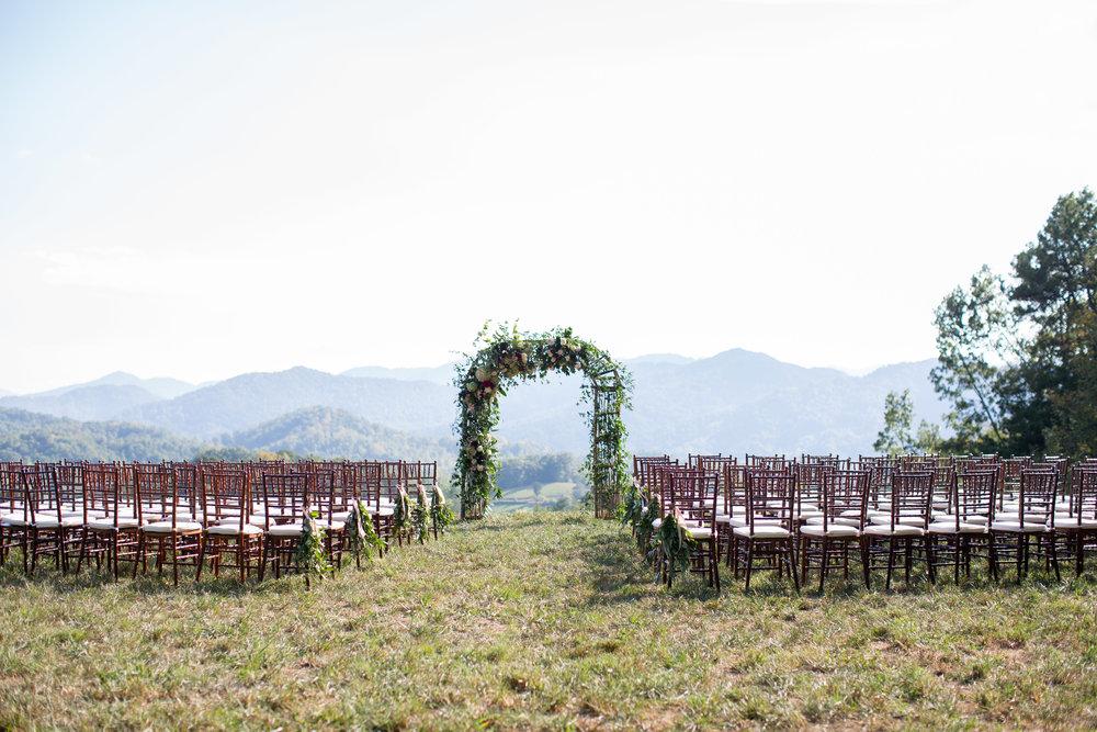 Asheville nc mountain wedding ceremony