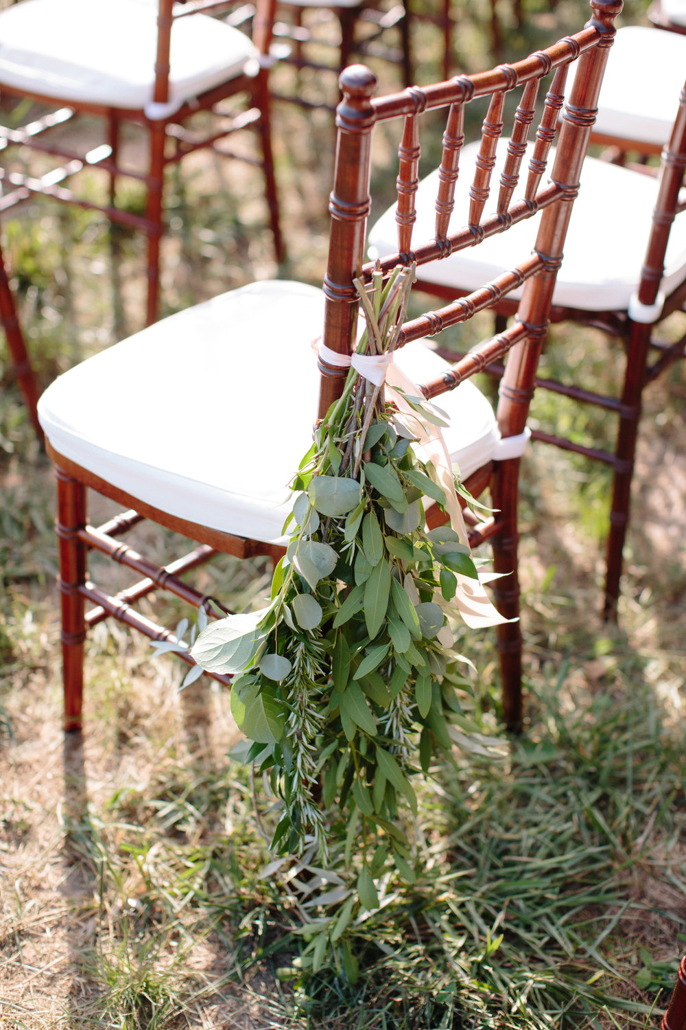 Asheville nc mountain wedding aisle markers
