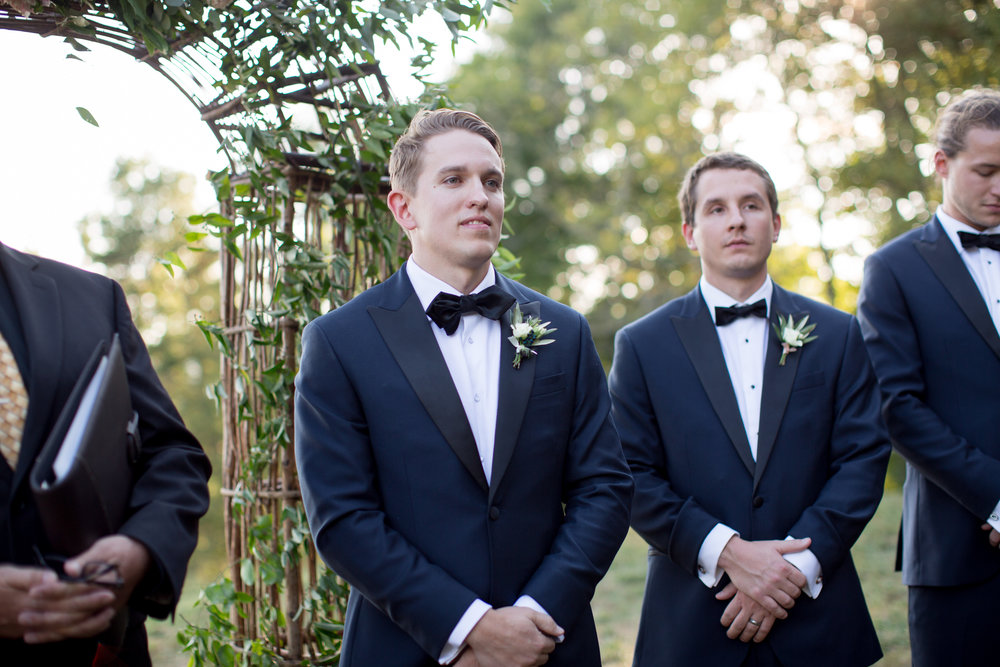 Asheville nc mountain wedding groom ceremony