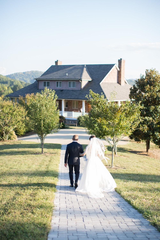 Asheville nc mountain wedding bride groom