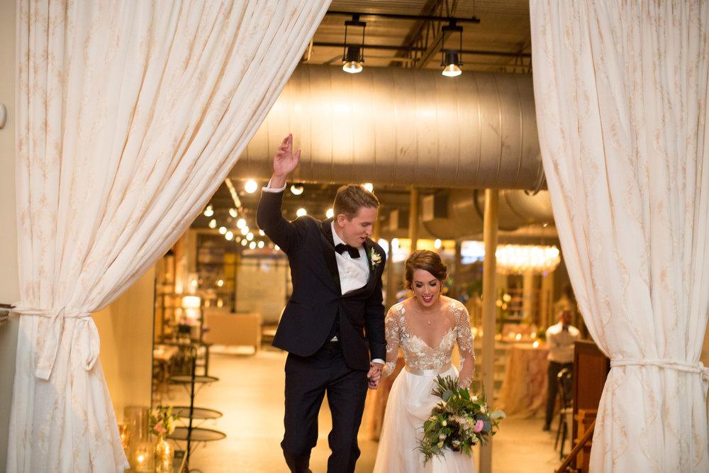 Asheville nc mountain wedding bride groom entrance