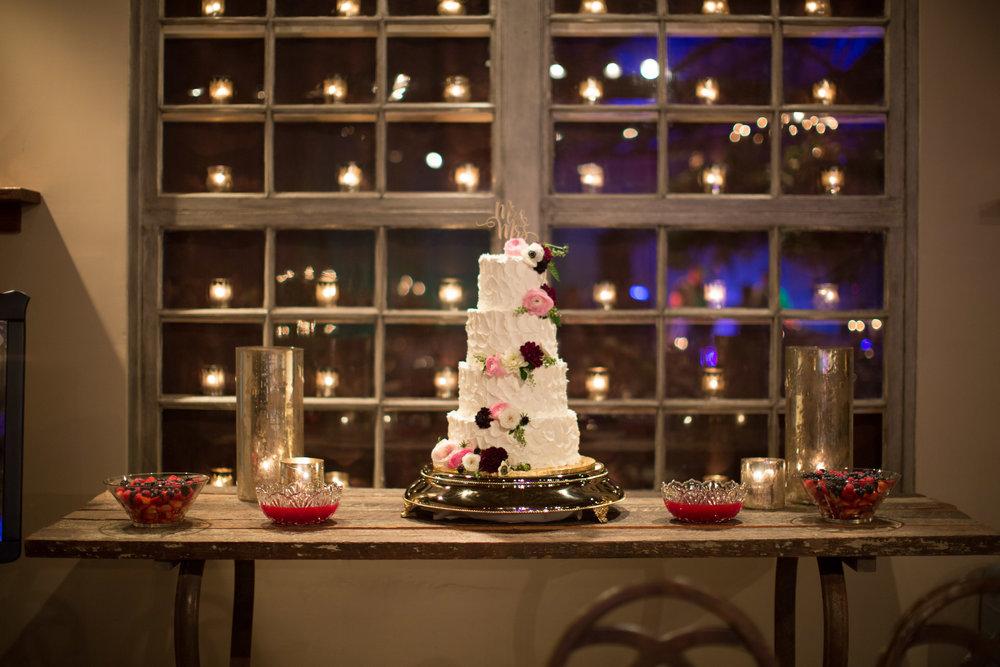 Asheville nc mountain wedding reception cake