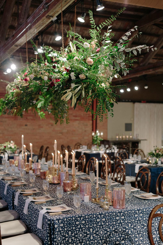 Asheville nc mountain wedding reception table setting
