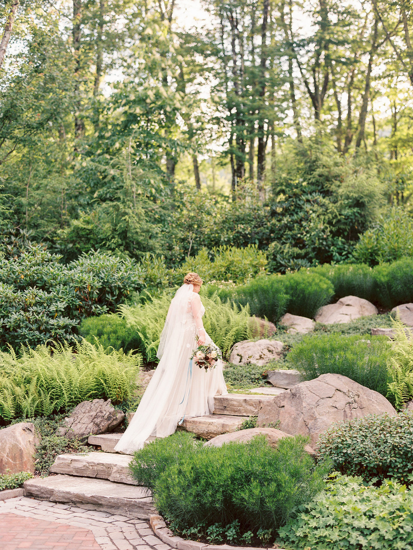 private home bridal portraits mountain wedding