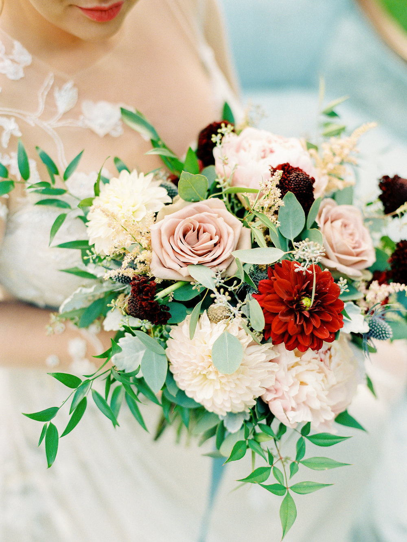 bridal bouquet dahlia banner elk nc