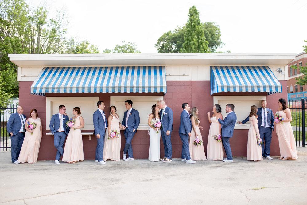 durham athletic park nc wedding bridal party