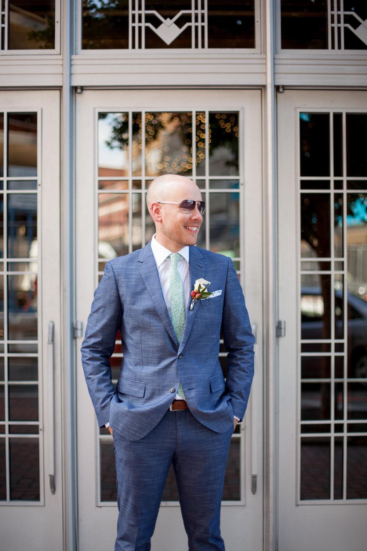durham athletic park nc wedding groom fashion