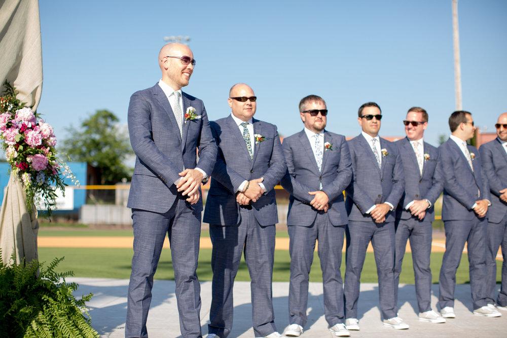 durham athletic park nc wedding groomsmen