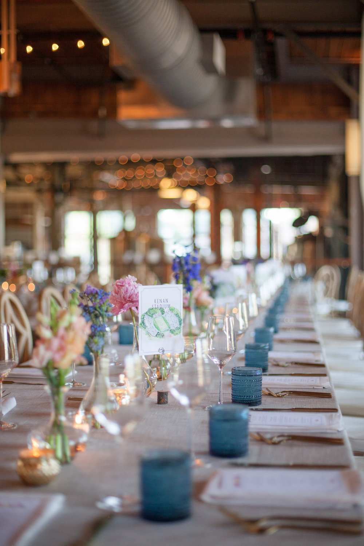 durham nc wedding the rickhouse reception place setting