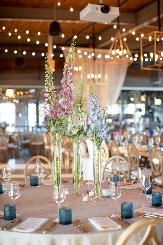 durham nc wedding the rickhouse floral centerpiece reception