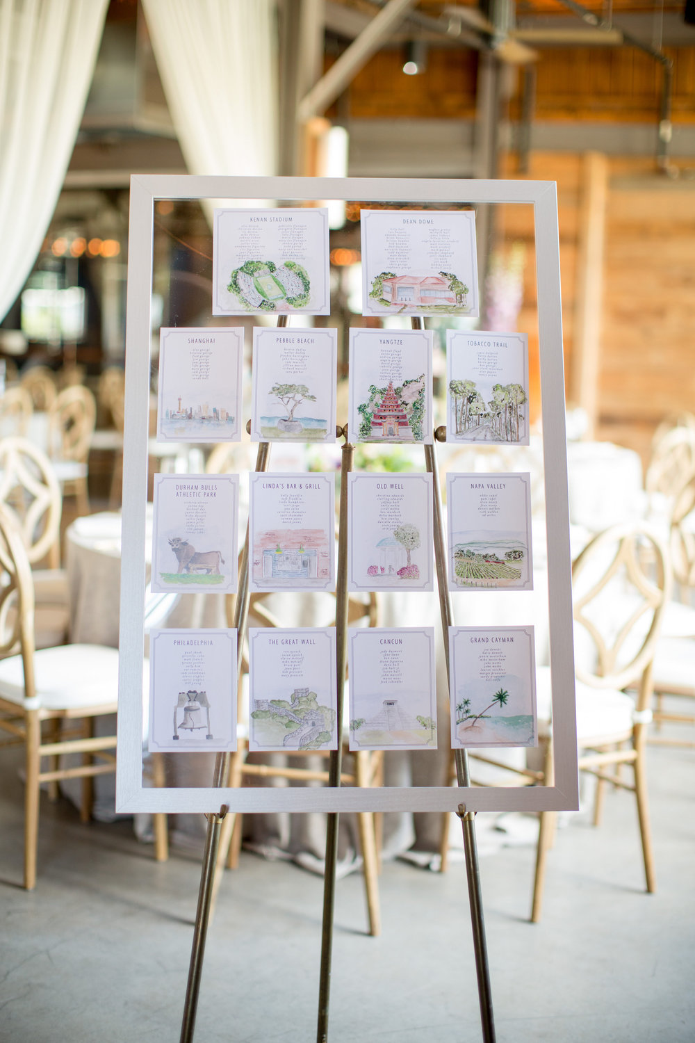 durham nc wedding the rickhouse seating chart