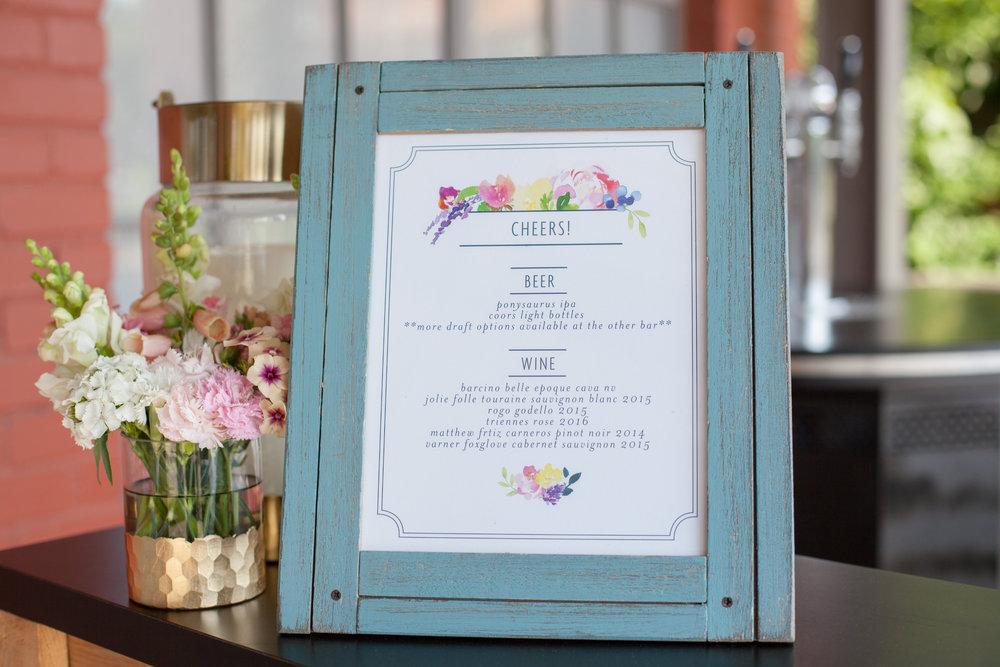 durham nc wedding the rickhouse bar menu