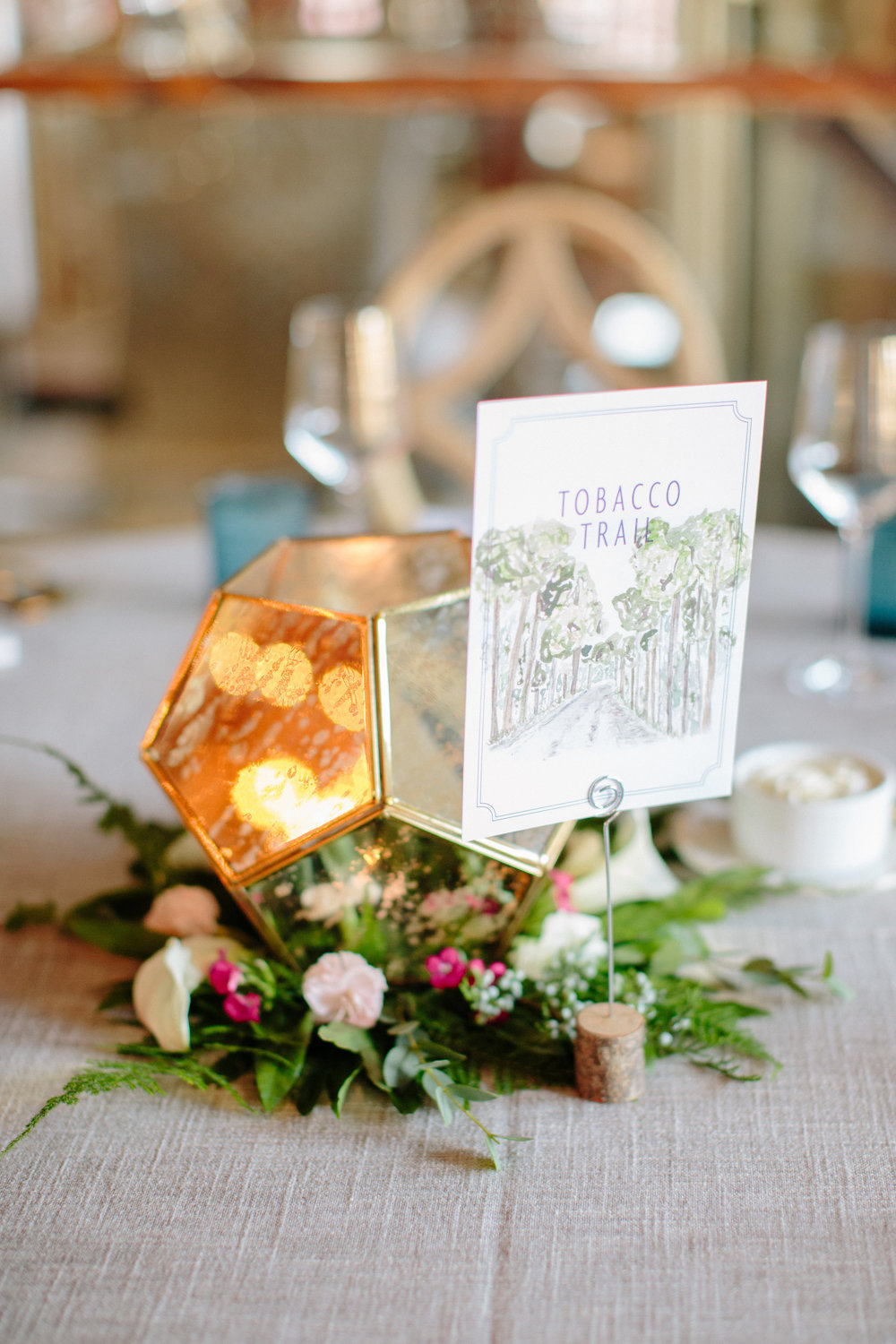 durham nc wedding the rickhouse table number florals
