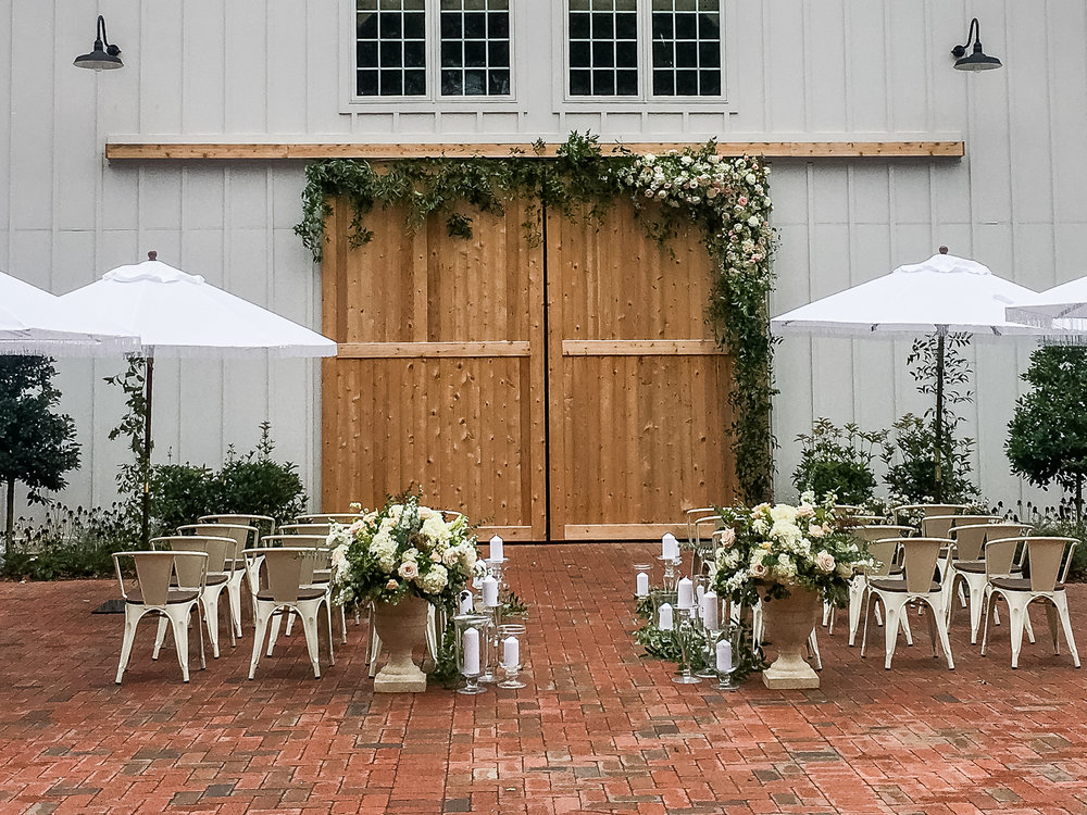 Southern Summer at Home Wedding Barn Chapel Hill NC ceremony
