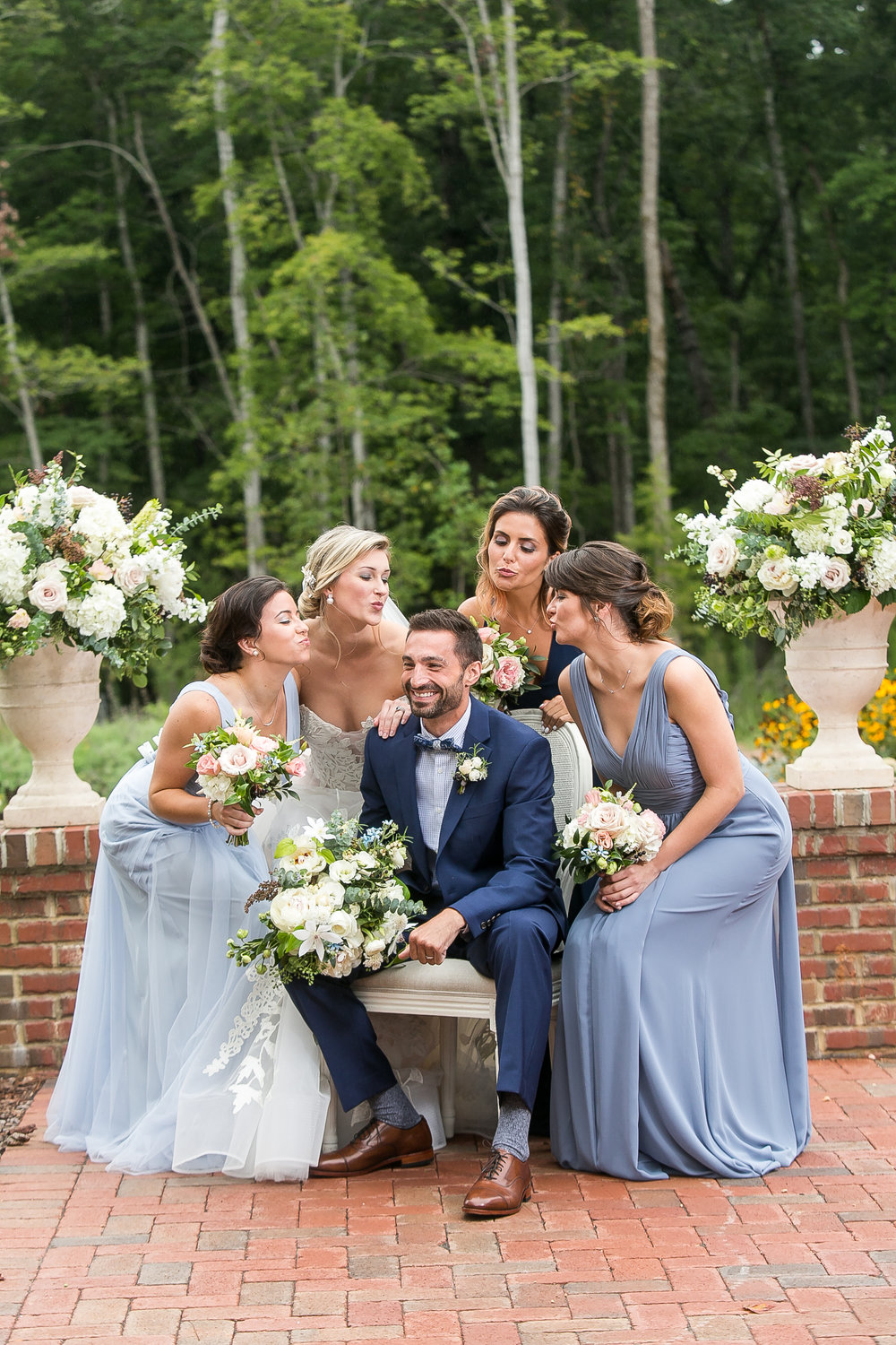 Southern Summer at Home Wedding Barn Chapel Hill NC bridal party