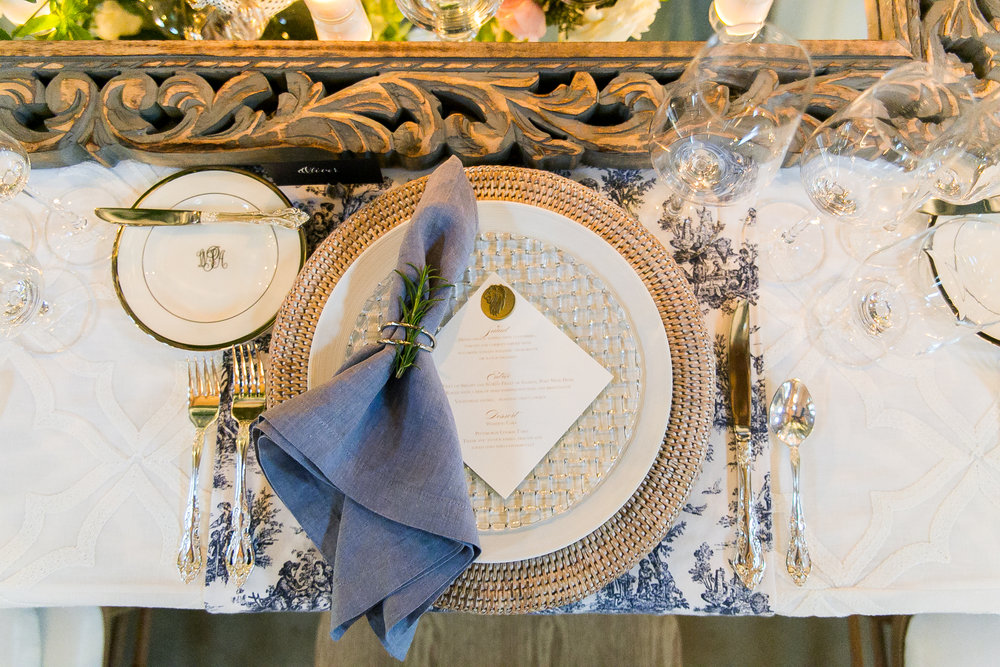 Southern Summer at Home Wedding Barn Chapel Hill NC place setting