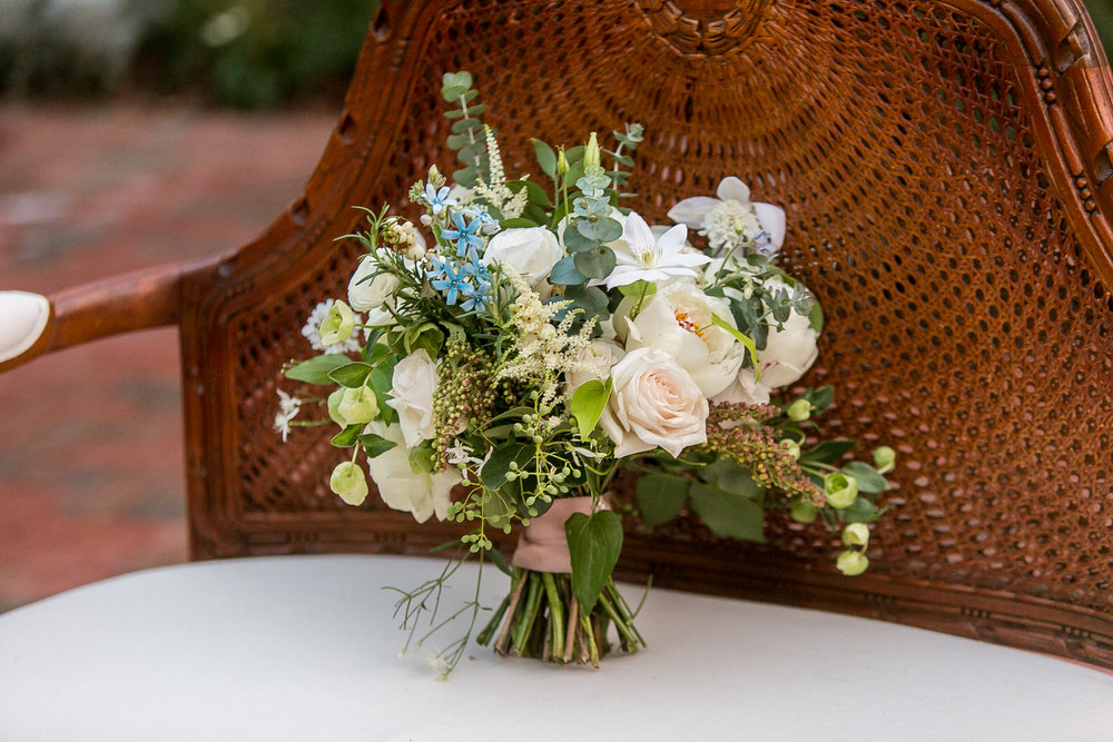 Southern Summer at Home Wedding Barn Chapel Hill NC bouquet