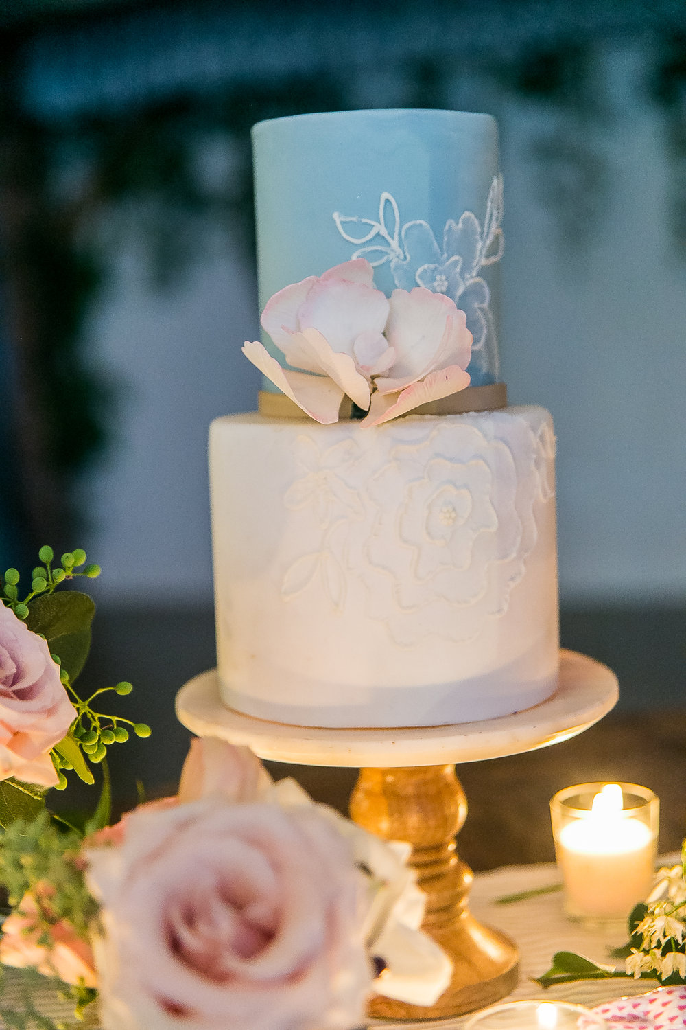 Southern Summer at Home Wedding Barn Chapel Hill NC cake