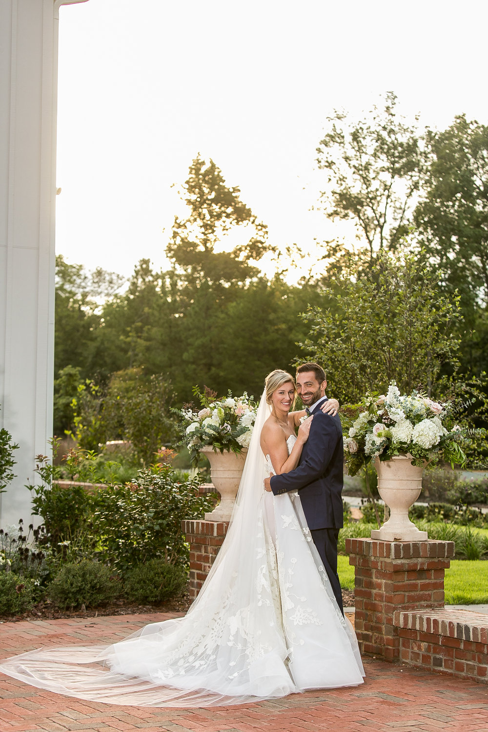 Southern Summer at Home Wedding Barn Chapel Hill NC bride and groom