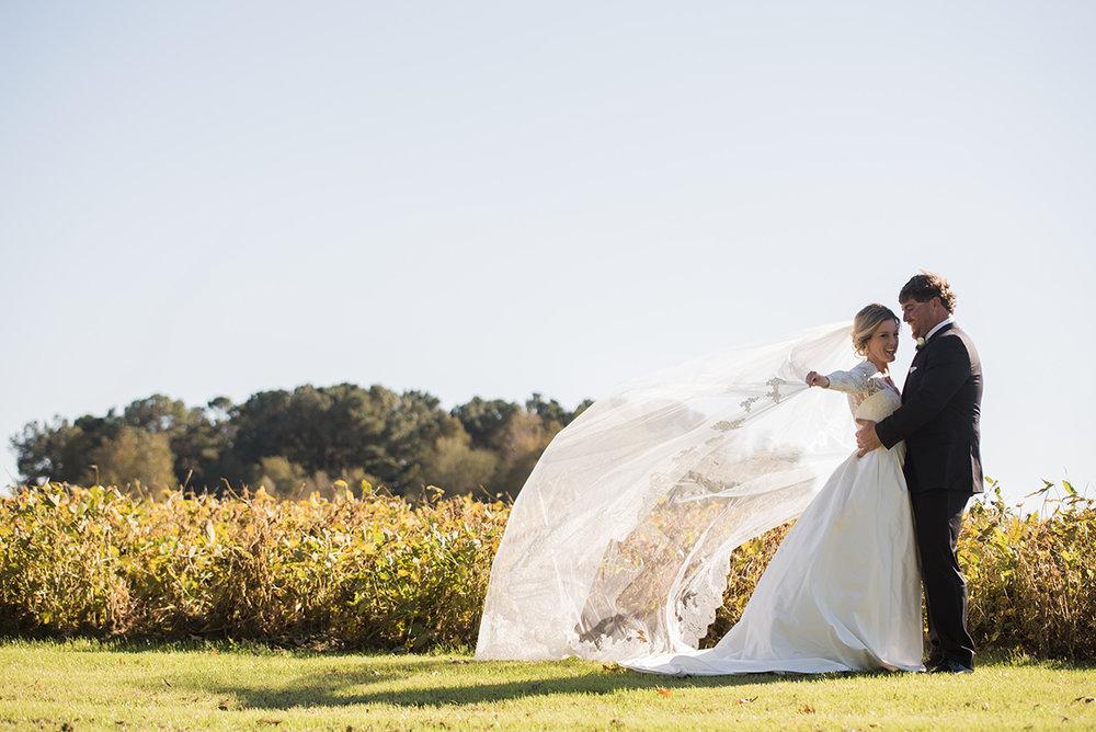 at home tented wedding North Carolina