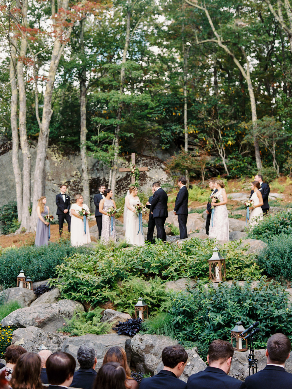 NC Mountain Home Wedding Ceremony on Mountain