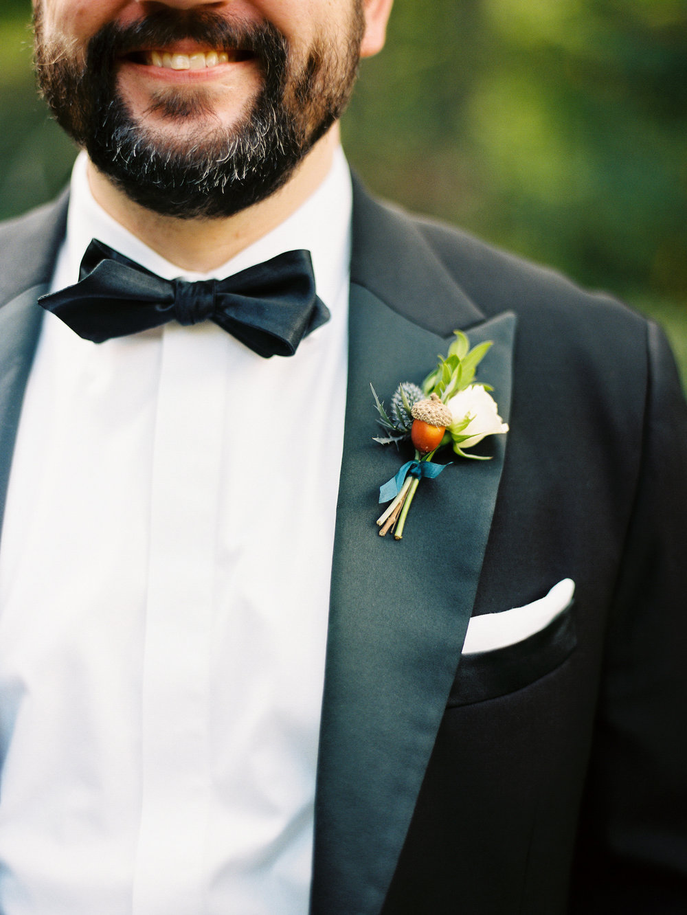 NC Mountain Home Wedding Groom Boutonniere