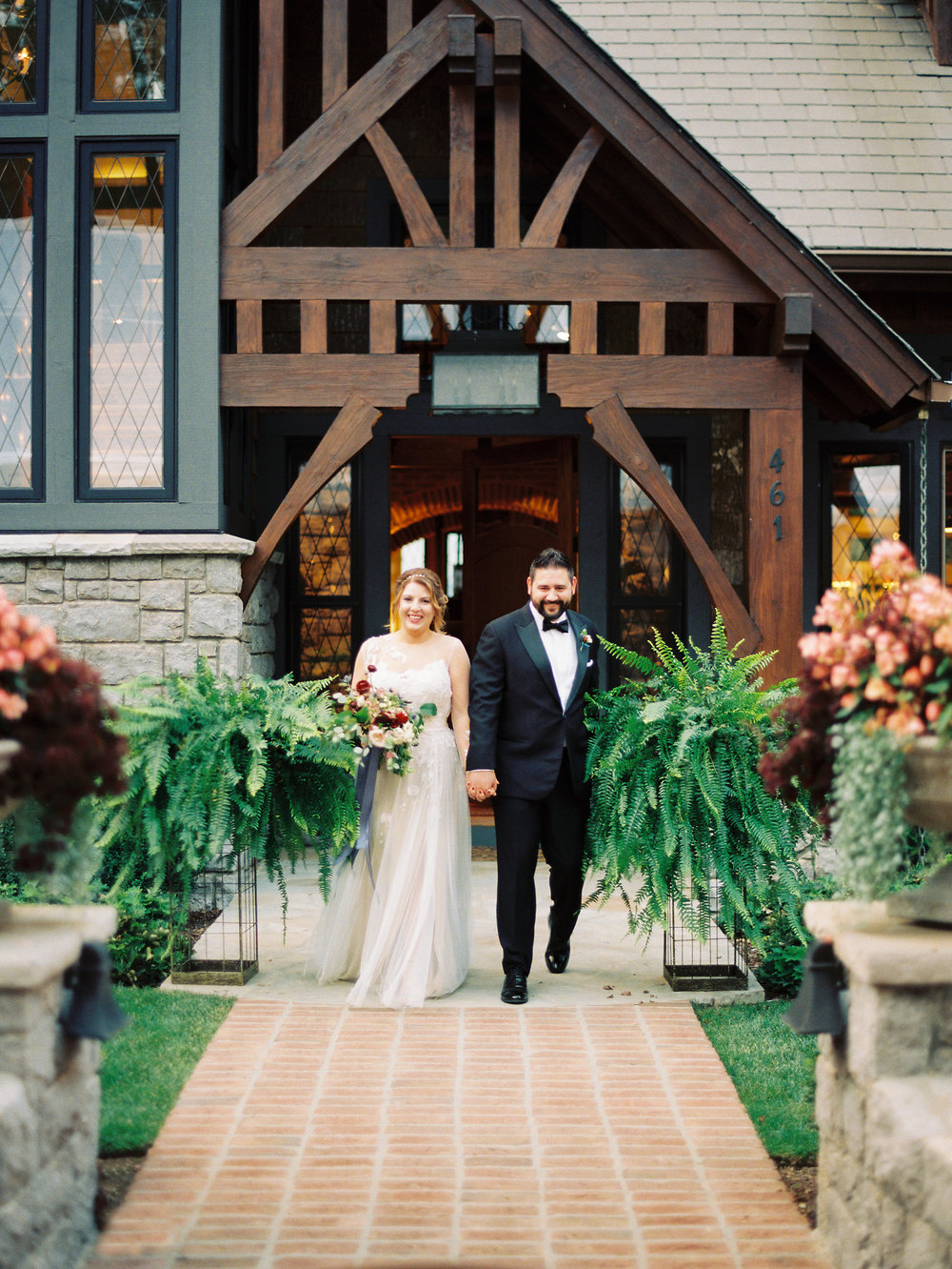 NC Mountain Home Wedding Bride and Groom Reception