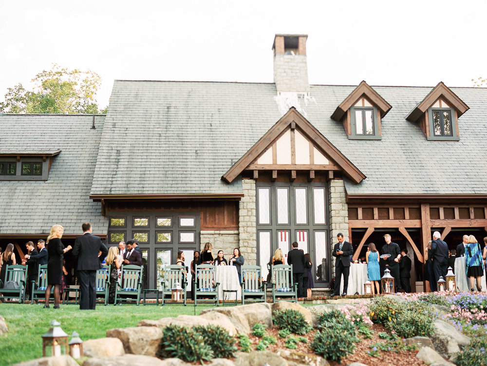 NC Mountain Home Wedding Outdoor Cocktail Party