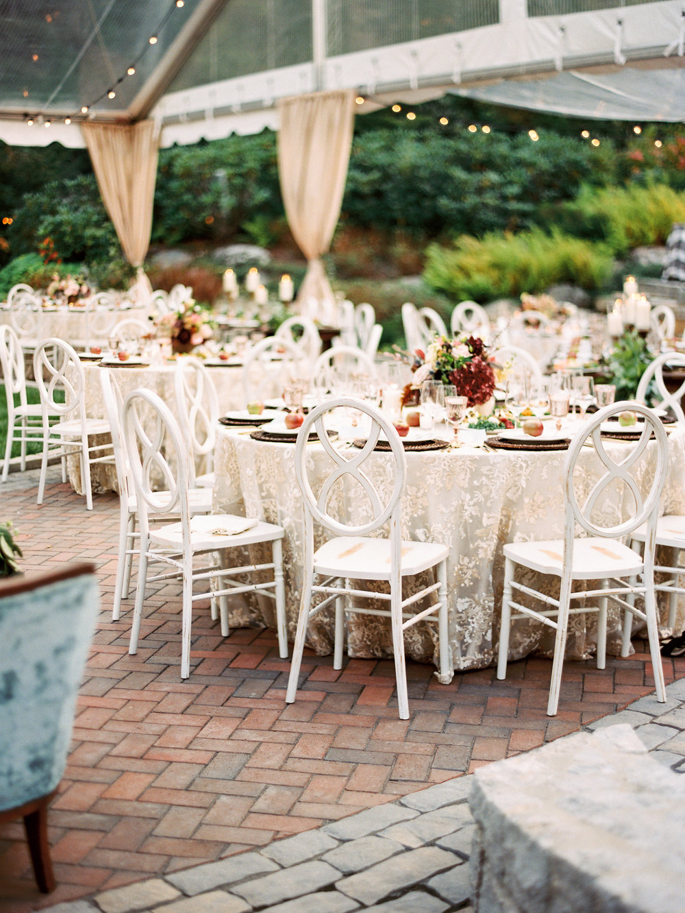 NC Mountain Home Wedding Reception Table