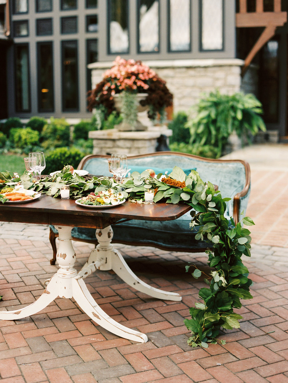NC Mountain Home Wedding Reception Sweetheart Table