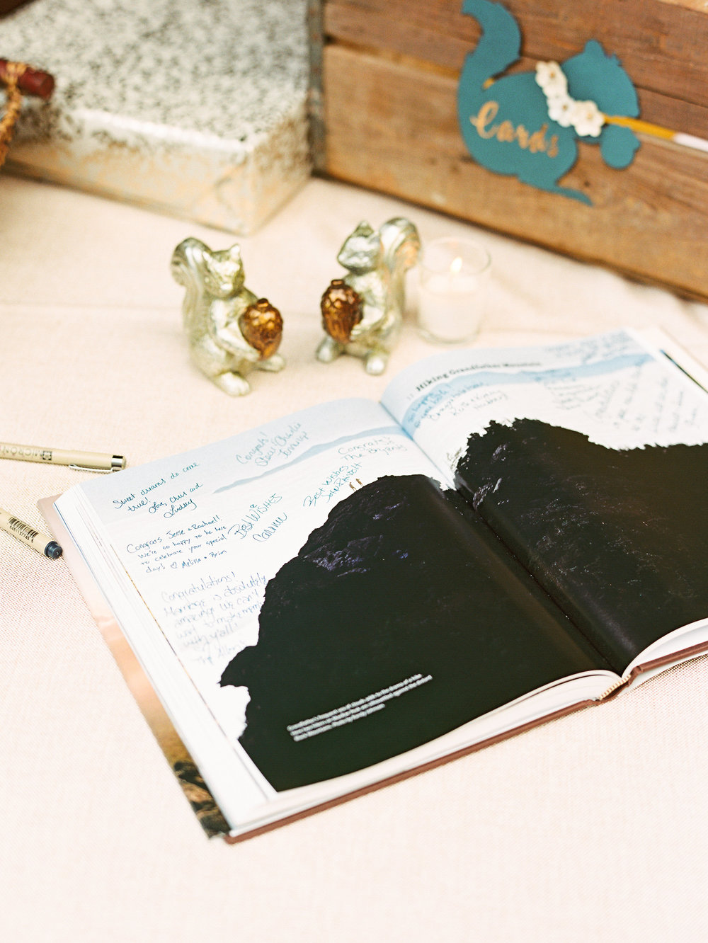 NC Mountain Home Wedding Guestbook Detail