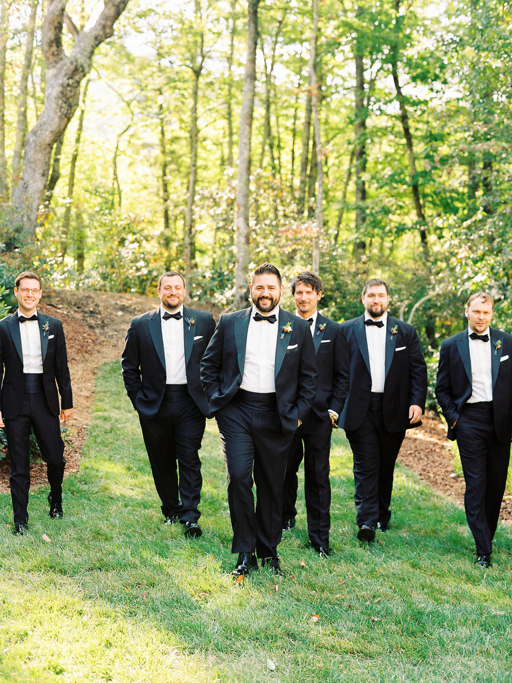 NC Mountain Home Wedding Groomsmen Groom
