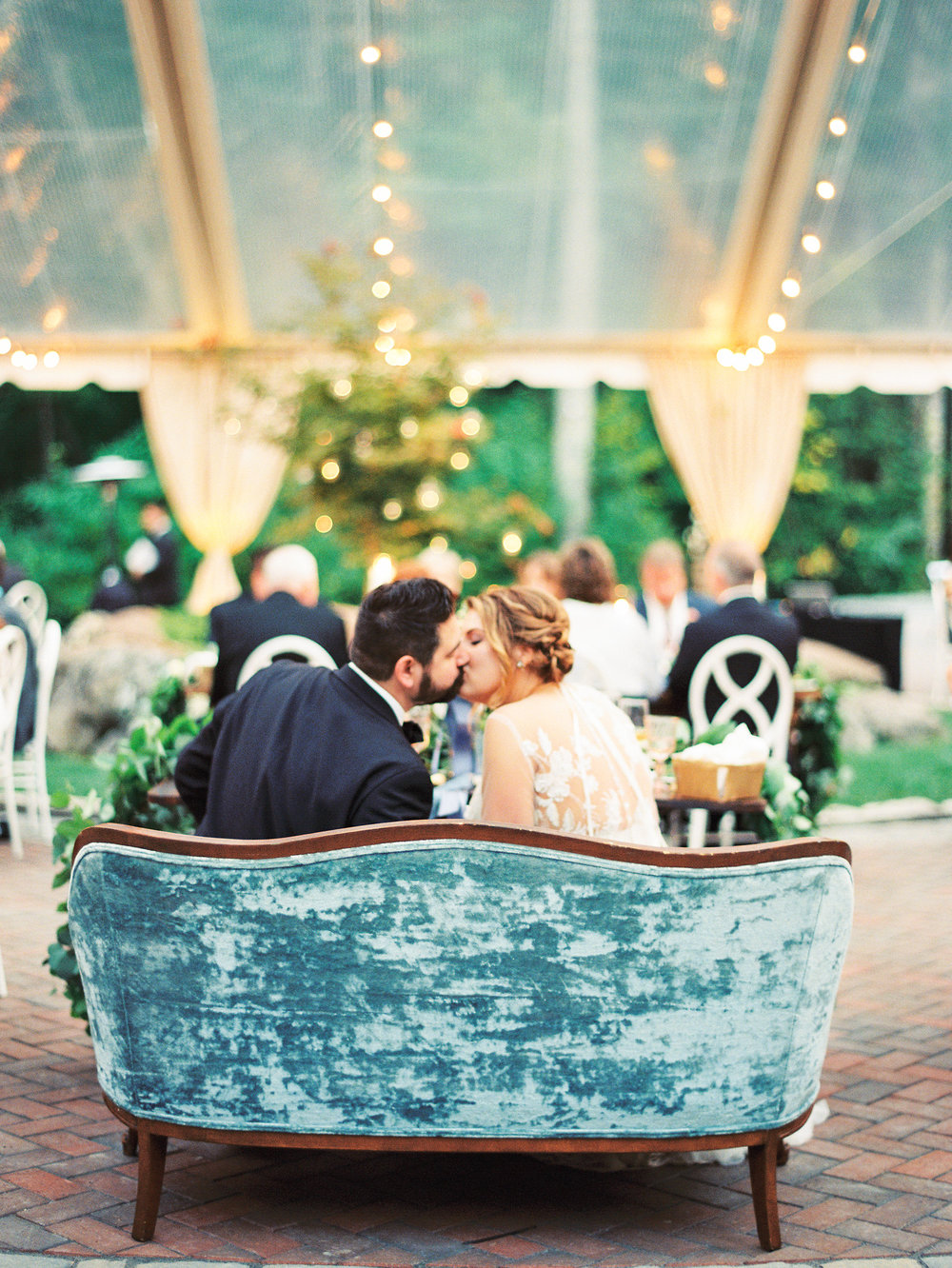 NC Mountain Home Wedding Sweetheart Table