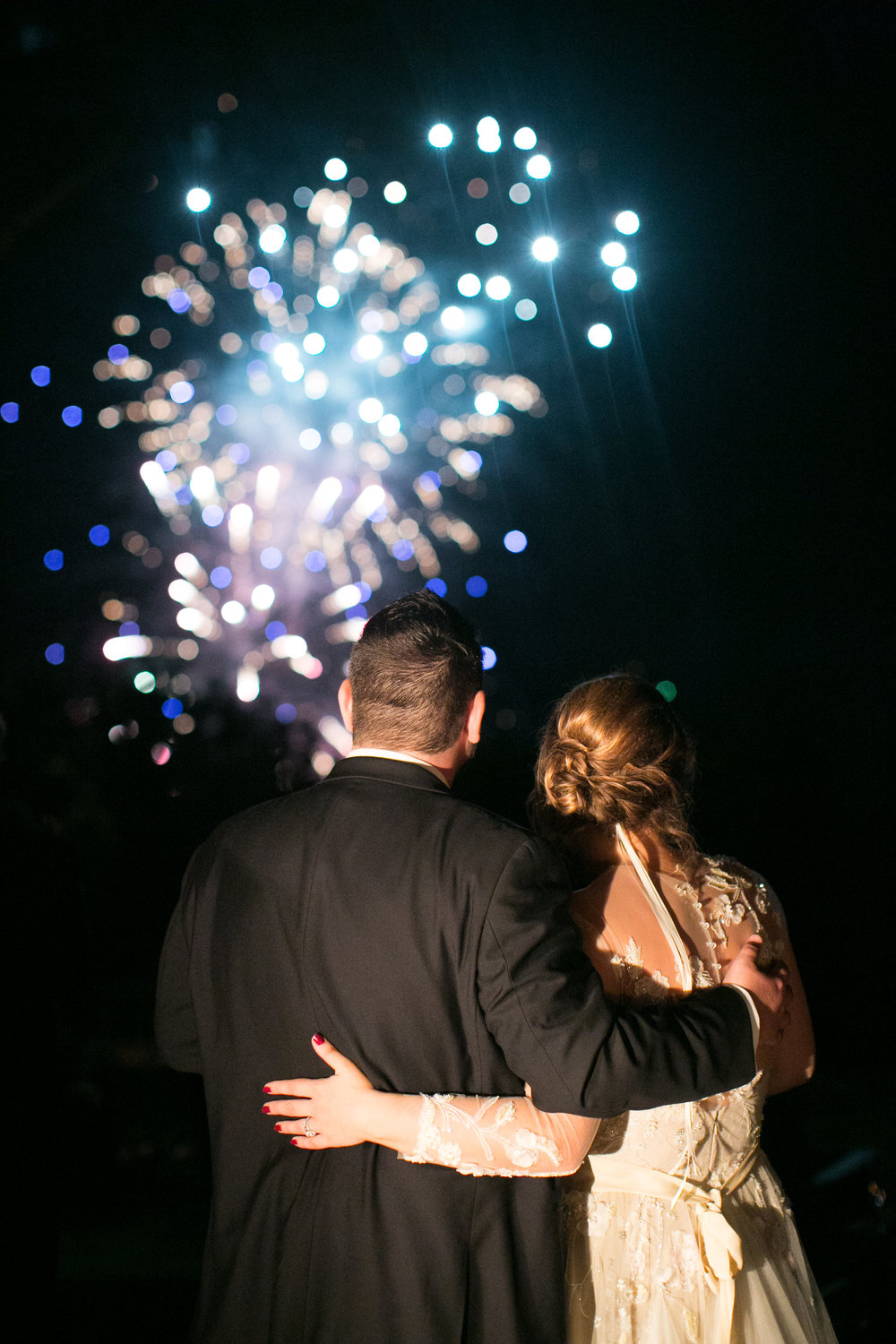 NC Mountain Home Wedding Reception Fireworks Blue Ridge Mountains