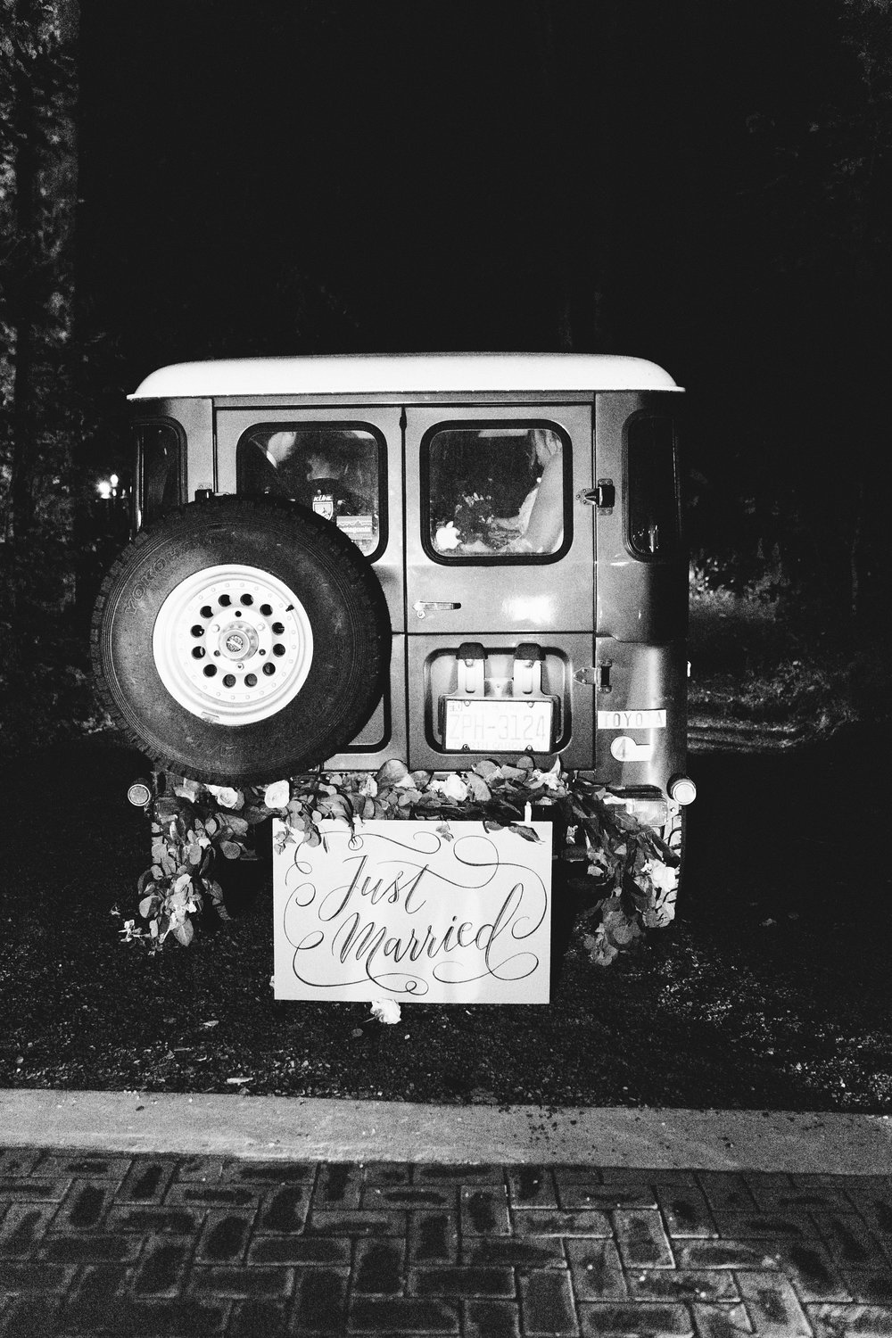 NC Mountain Home Wedding Vintage Getaway Car