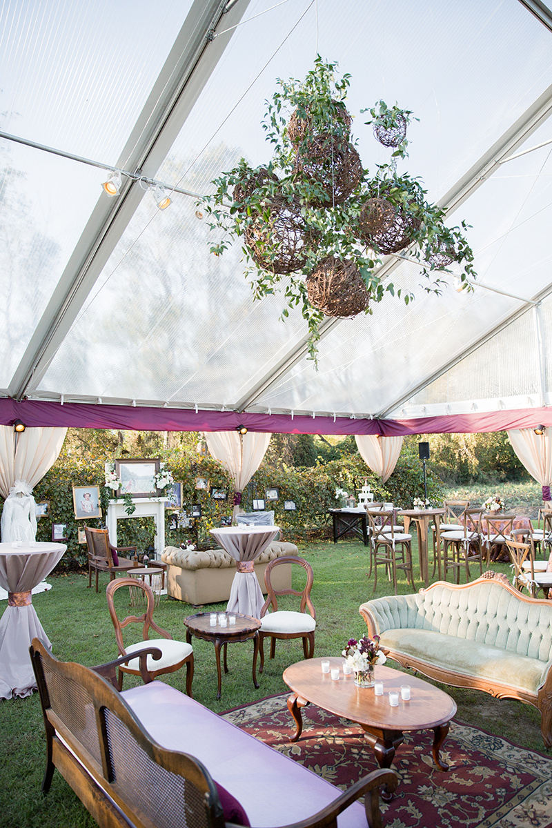 Private Farm Tented Wedding Lounge