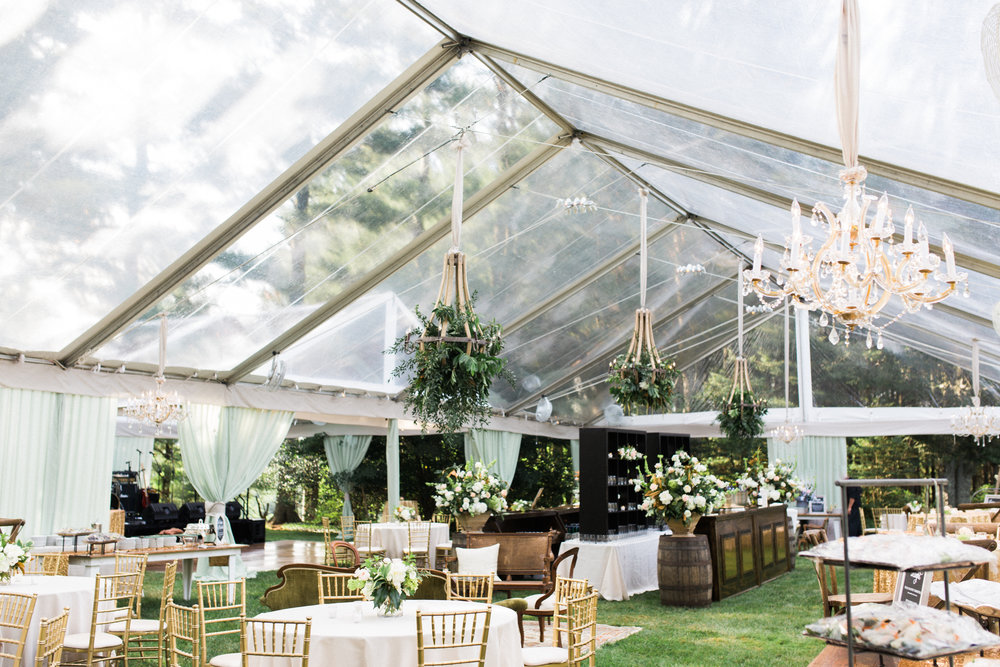 Private Home Tented Wedding Tent Shot