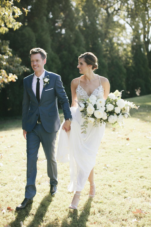 Lauren & Dylan's Restaurant Inspired Wedding Bride and Groom
