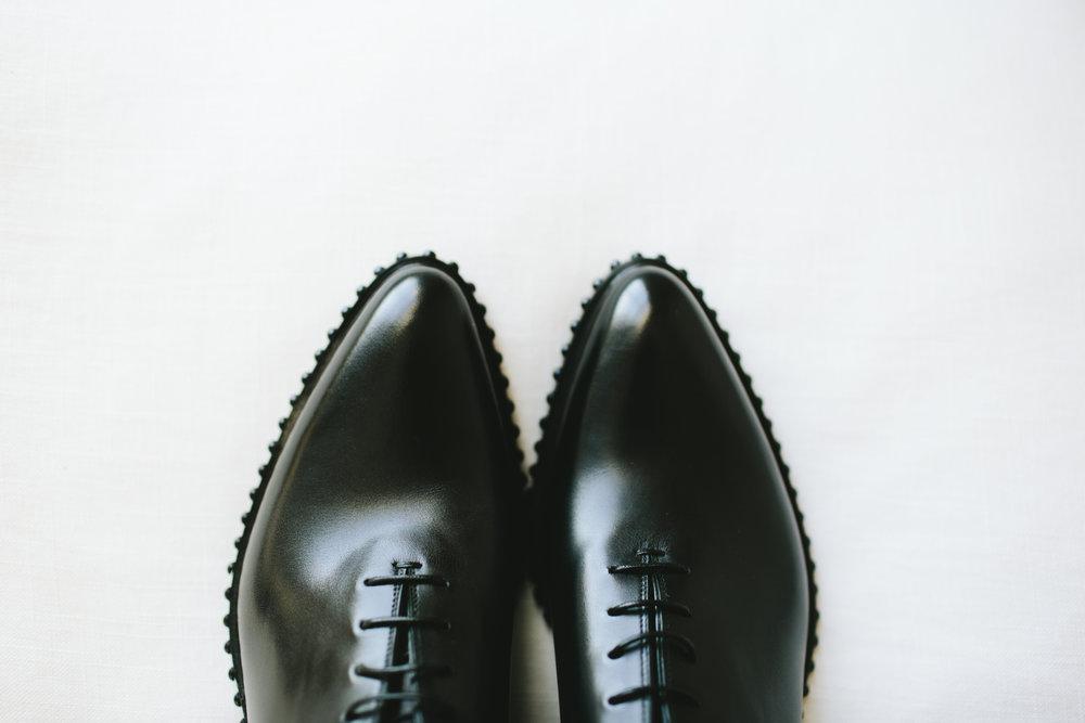 Lauren & Dylan's Restaurant Inspired Wedding Groom's Attire Shoes
