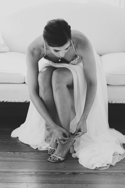 Lauren & Dylan's Restaurant Inspired Wedding Bride Getting Ready