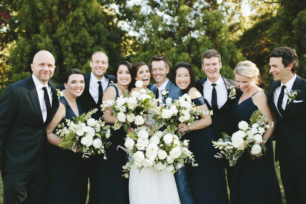 Lauren & Dylan's Restaurant Inspired Wedding Bridal Party