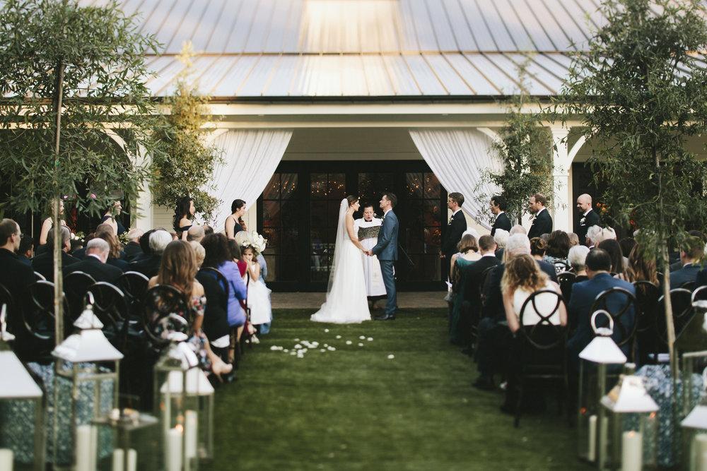 Lauren & Dylan's Restaurant Inspired Wedding Live Trees Ceremony