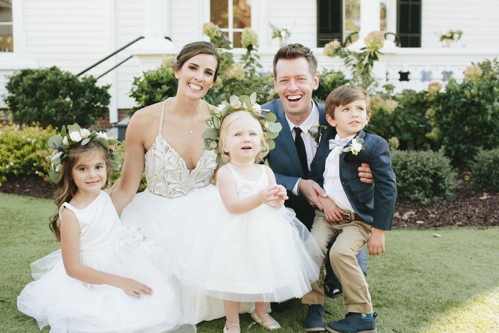 Lauren & Dylan's Restaurant Inspired Wedding Bride and Groom Flower Girls Ring Bearer